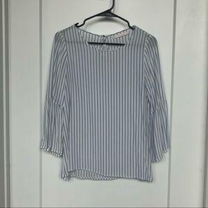 Zara Bell Sleeve Stripe Top